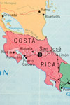Simple Map of Costa Rica